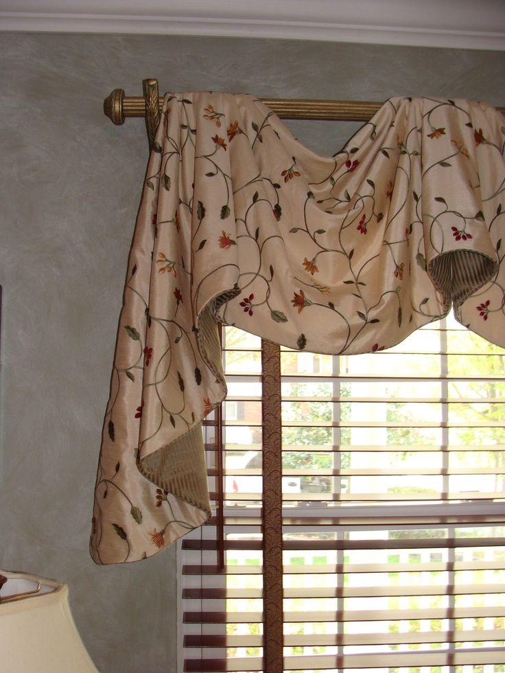 Valances window treatments home portfolios window for Window treatment