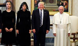 Poor Francis looks understandably miserable. Trump hails Vatican meeting with Pope Francis as 'an honour' | US news | The Guardian
