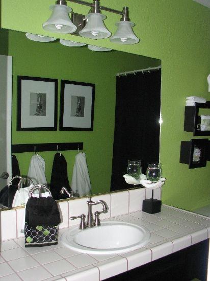 green bathroom decor ideas