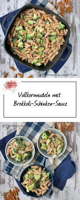 Vollkornnudeln mit Brokkoli-Schinken-Sauce   Kochen   Rezept   Essen