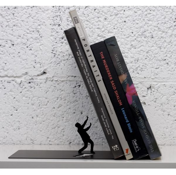 Falling book ends.