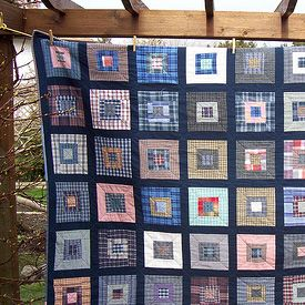 quilt from old clothes - love this!  i've been saving baby clothes and husband's worn out shirts.