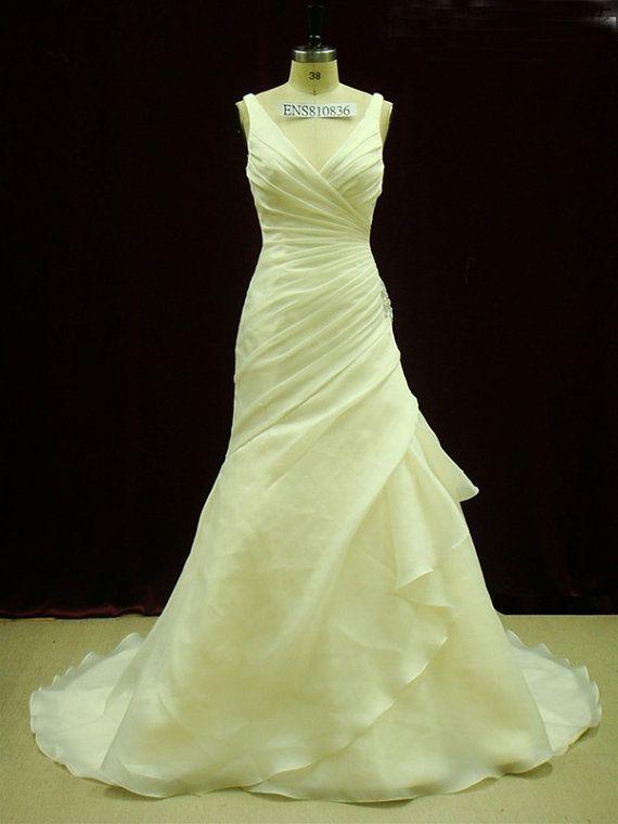 Gorgeous Organza Pleated Wedding Dress with by WeddingDressFantasy