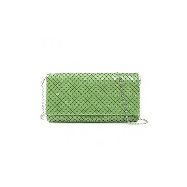 Fashion Sequined Clutch Bag Long Wallet (€14) ❤ liked on Polyvore featuring bags, handbags, clutches, green, sequin purse, green purse, green clutches, long purse and long handbags