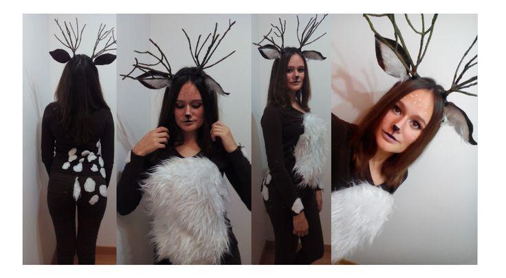 DIY disfraz de ciervo fácil paso a paso #Deer costume #last minute costume