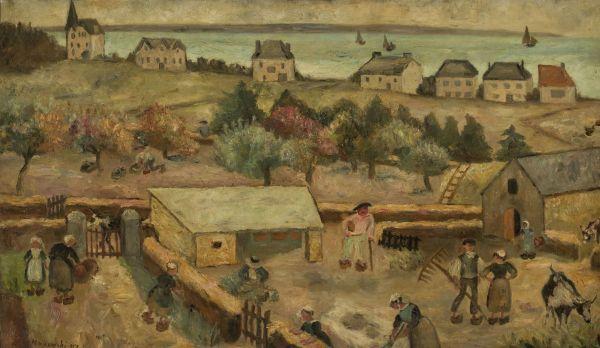 Zagroda w Keranquernat - Tadeusz Makowski