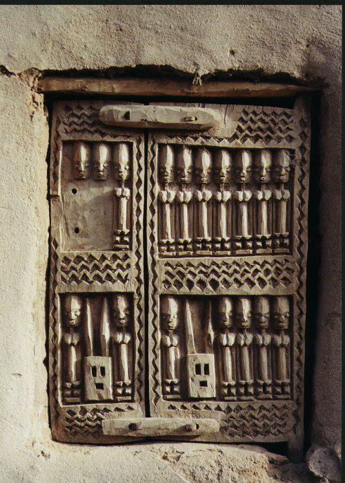 ArtAfrica: Dogon puerta del granero, Malí