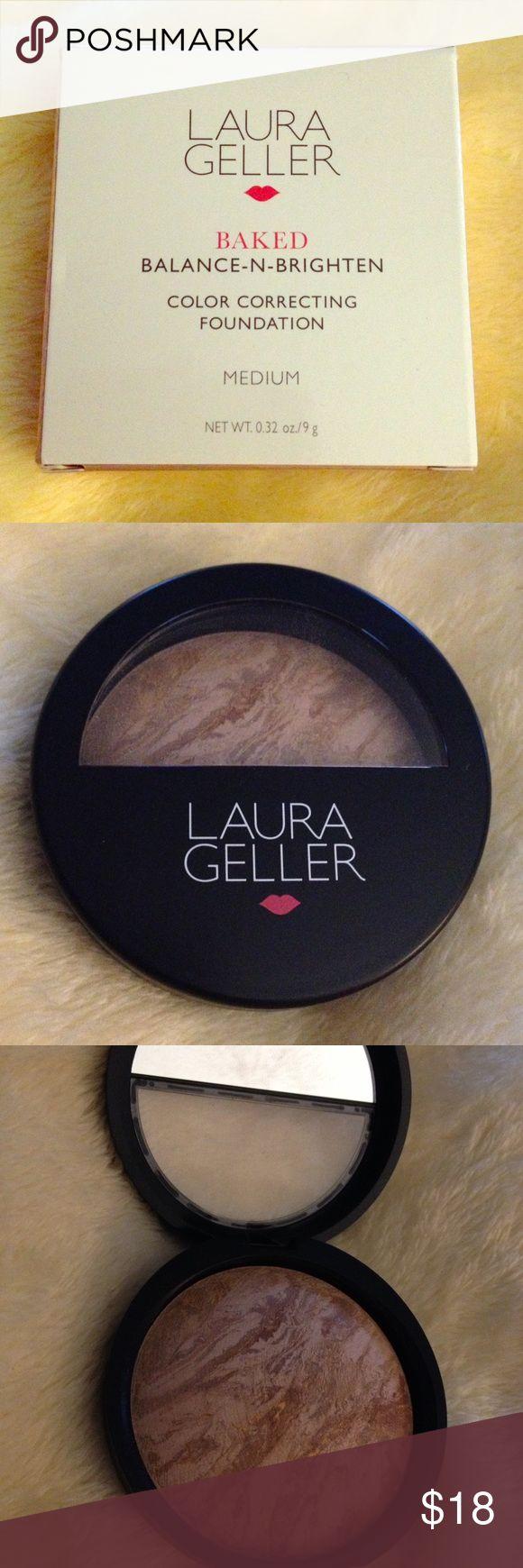 Laura Geller balance-n-brighten New! Medium shade color correcting foundation Laura Geller Makeup Foundation
