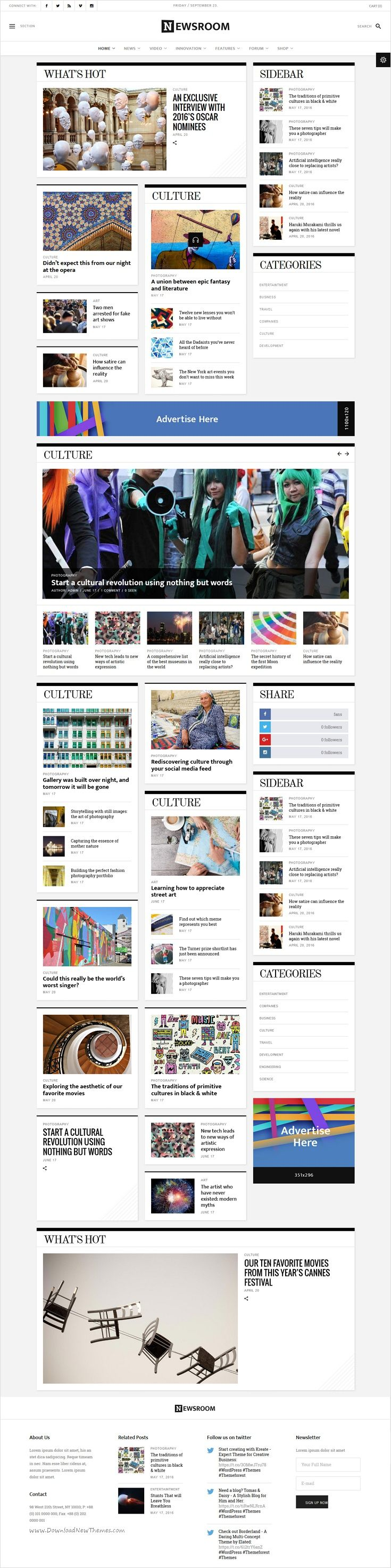 Newsroom is beautifully design #News #Editorial #WordPress #theme for contemporary multipurpose News, Blog, Magazine or Newspaper website with 6 different homepage layouts download now➩ https://themeforest.net/item/newsroom-a-contemporary-multipurpose-newspaper-magazine-theme/16698683?ref=Datasata