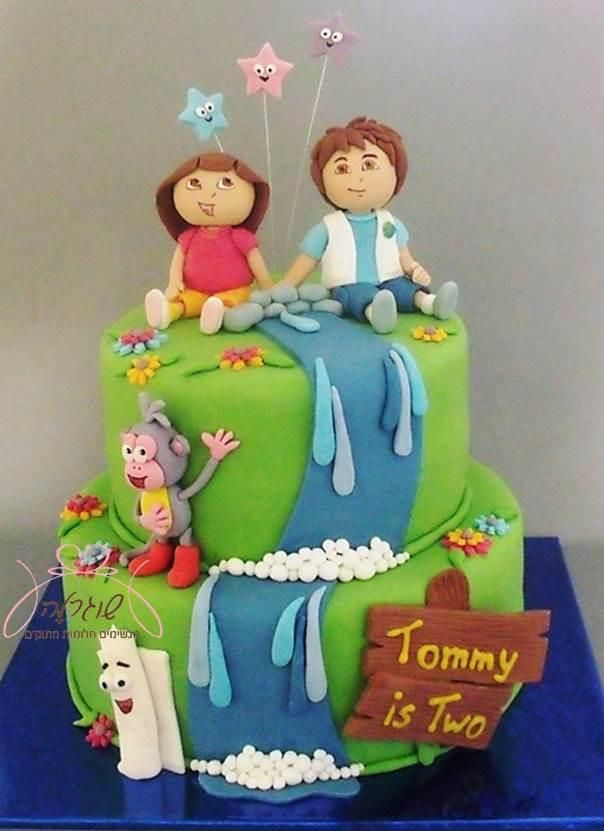 975 best cakes birthday boys images on pinterest cakes for Baby dora tooth decoration