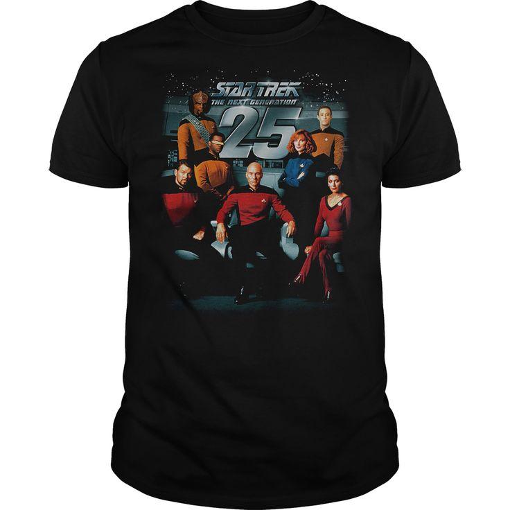 Star Trek 25th Anniversary Crew T-Shirts, Hoodies. Get It Now ==> https://www.sunfrog.com/TV-Shows/Star-Trek-25th-Anniversary-Crew.html?id=41382