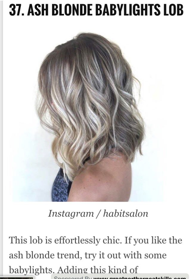Ash Blonde BabyLight Highlights, Cut in a Lob