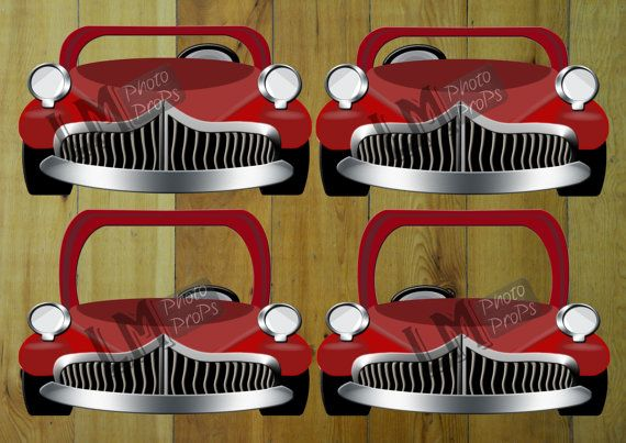 Red GREASE inspired EXtra Large Car Photo Booth by LMPhotoProps