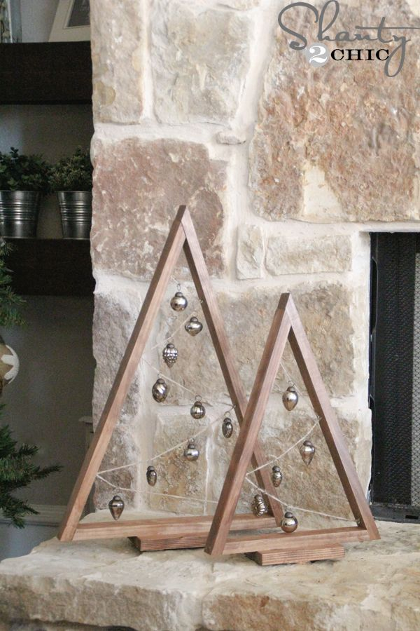 Build your own custom DIY Ornament Trees with an easy to follow tutorial and free printable plans.