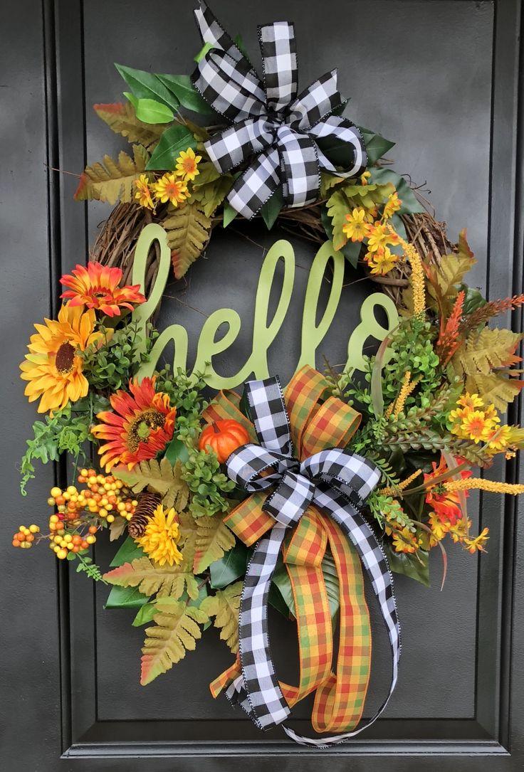 Pin by Linda Varner on Fall wreath Thanksgiving door