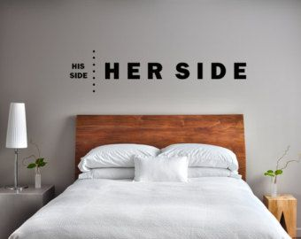 Delightful His Side Her Side Wall Decal Custom Wall Decals Custom Vinyl Decal Funny  Sayings Wall Art Cute Sayings Wall Decal Bedroom Decals
