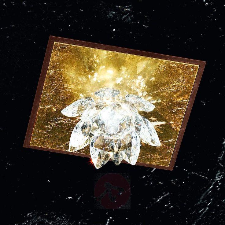 Fiore taklampe med bladgull og krystaller-5505542-30