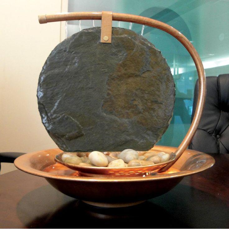 Delightful BluWorld Large Moonshadow Slate Indoor/Outdoor Tabletop Fountain | From  Hayneedle.com Nice Design
