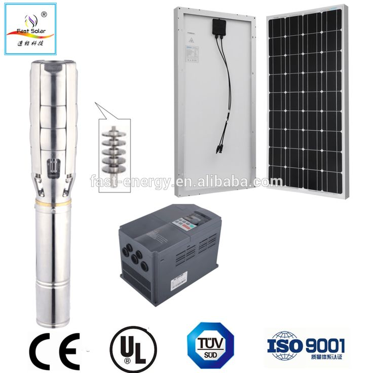 AC / DC solar submersible water pump system 12v brushless 12V 24V 48V 72V 216V 380V solar water pumps for wells