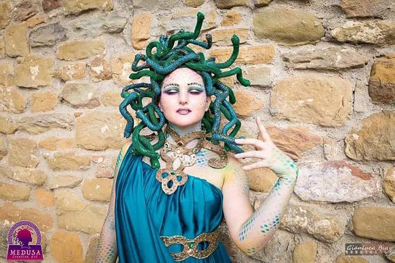 Medusa snake headpiece by MedusaCreationArt on Etsy