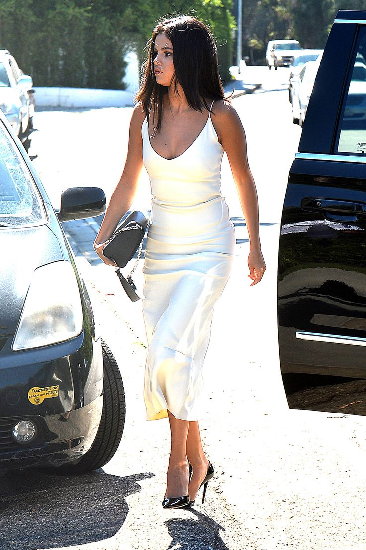 90s minimalism is back and better than ever in this Atea Oceanie dress for event in Brentwood, CA.   - HarpersBAZAAR.com