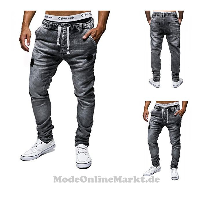 | #LEIF #NELSON #Herren #Hose #Jogg #Jeans #Freizeithose #LN1405-3399GR; #W29L34, #Dunkel #Grau
