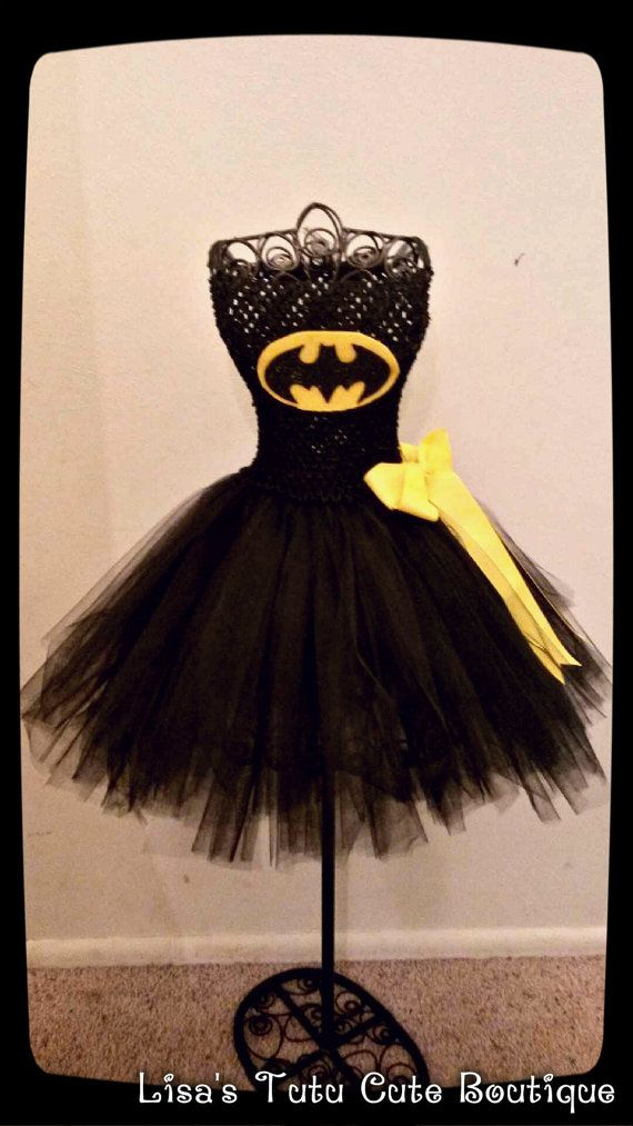 Batman tutu dress by LisasTutus on Etsy, $20.00                                                                                                                                                                                 More