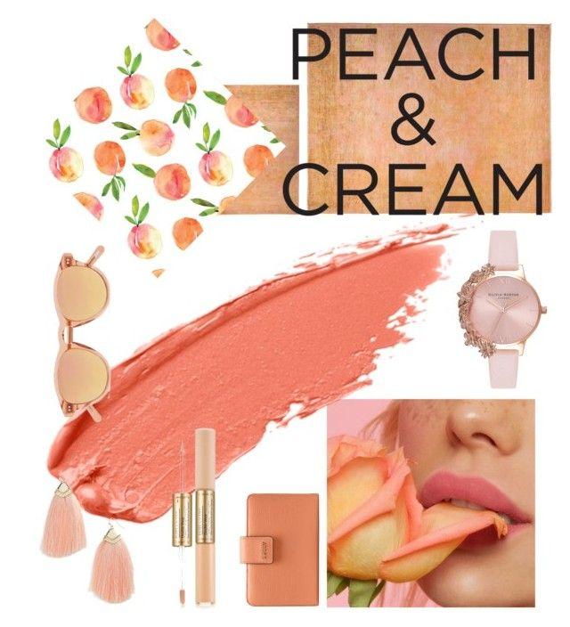 """Peach"" by onyourback on Polyvore featuring beauty, Solo Rugs, Olivia Burton, Chimi, Bally, Panacea, Estée Lauder and peachlipstick"