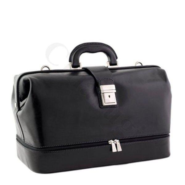 CHIARUGI - Borsa da Dottore 5497 blk #bags #leather #madeinitaly