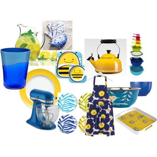 10 Best Blue And Yellow Kitchen Images On Pinterest