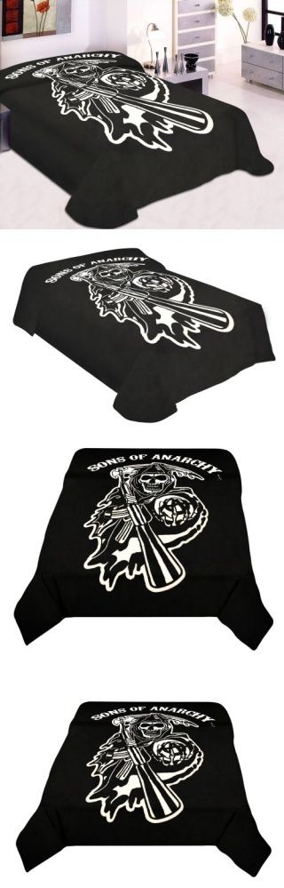 Sons Of Anarchy Reaper Blanket SOA Merchandise Is Perfect For Home Decor, Gifts, Accessories, Memorabilia, Collectables