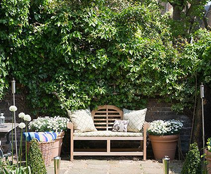 A summery garden nook is the perfect place to get away from it all.