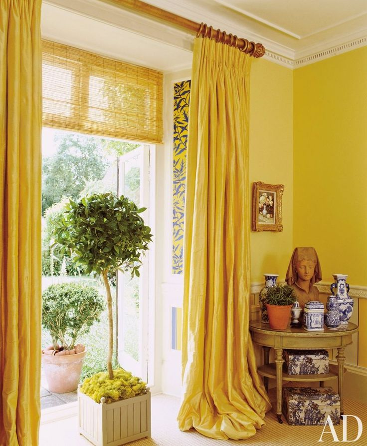 curtains for yellow living room at royal portrait painter richard s regency style 19103