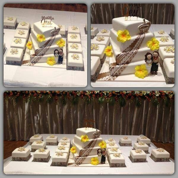 Beautiful samoan wedding cake by Cut That Cake in Sydney
