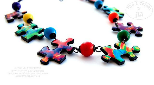 Collana Puzzle piccola POP FROG per Miriam | Flickr - Photo Sharing!
