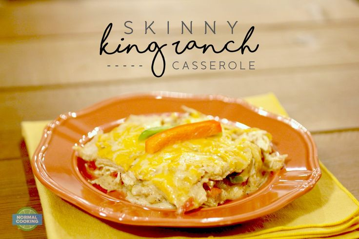 Skinny King Ranch Casserole - Only 245 calories per serving in this delicious casserole! Loaded with flavor and will actually leave you feeling full!