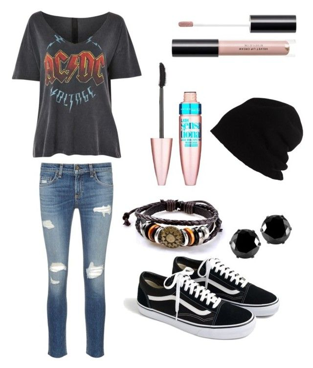 My style by olahtory on Polyvore featuring polyvore, moda, style, Topshop, rag & bone/JEAN, J.Crew, West Coast Jewelry, SCHA, Maybelline, fashion and clothing