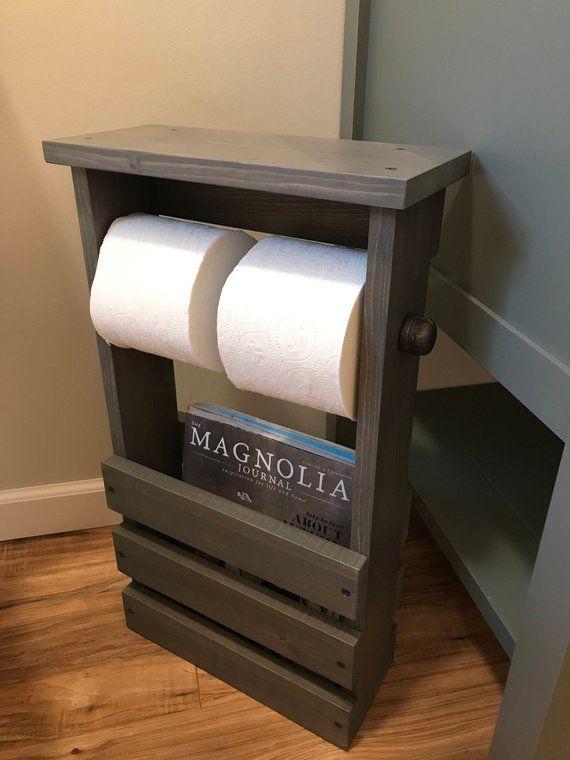 Bathroom Free Standing Toilet Paper Holder Bathroom Etsy Free Standing Toilet Paper Holder Toilet Paper Holder Diy Toilet Paper Holder
