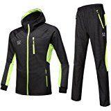 CZUP Men's Cycling Suit Waterproof Coat & Trousers Suit Cycling Windbreaker Windcheater Windproof UP-UT16 Yellow