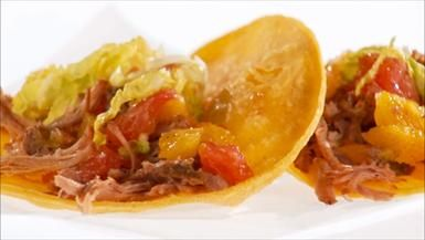 Pulled Pork Tacos with Citrus Salsa. I used the pork recipe and