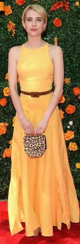 Emma Robers in Christine Alcalay Spring 2015 -– 8th Annual Veuve Clicquot Polo Classic