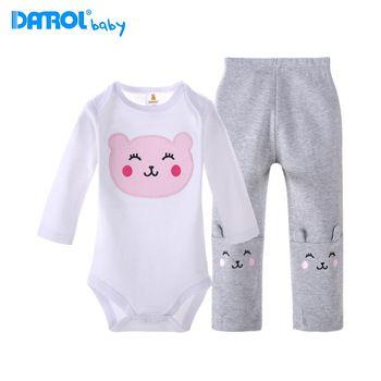 Driehoek merk danrol katoenen baby romper baby kleding baby broek pak 3-24m geschenkdoos gratis verzending