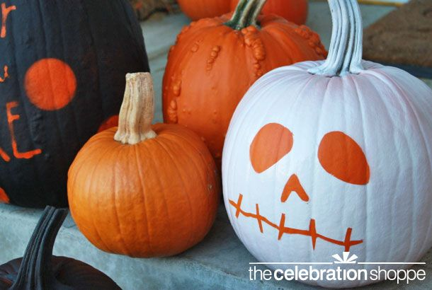 Easy diy spray paint decorated pumpkins pumpkins Easy pumpkin painting patterns