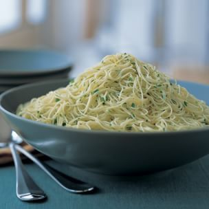 Cappellini with Lemon, Garlic and Parsley | Williams-Sonoma: Make as ZAPPELLINI (zucchini cappellini)...