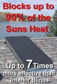 EZ Snap Exterior Skylight Shades block 90% of Sun's Heat