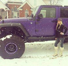 Nice lifted Jeep…. the purple is nice too
