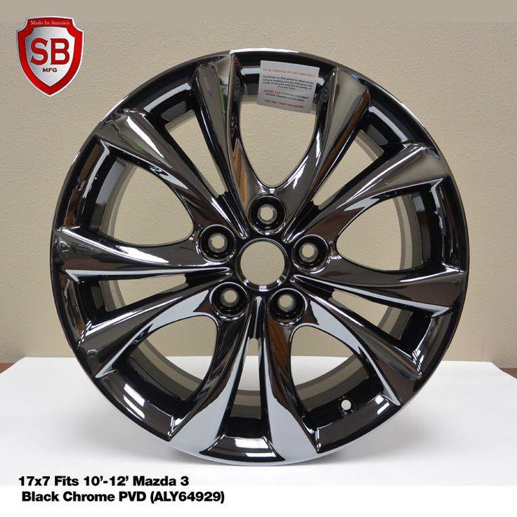 New 17 Rims For Mazda 3 Black Chrome 2010 2017 Wheel 64929