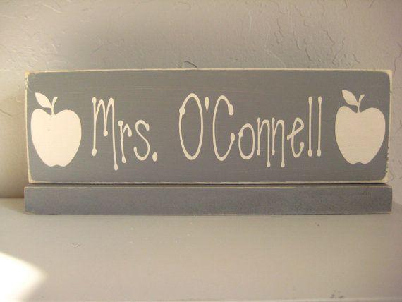Teacher's Name Plate by AinsleyRaes on Etsy, $25.00
