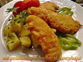Csirkemell szeletek mustáros palacsinta köntösben http://megoldaskapu.hu/csirkemell-receptek/csirkemell-szeletek-mustaros-palacsinta-kontosben • 2 db csirkemell csont nélkül • 30 dkg finomliszt • 2 ek. mustár • 1 mk. őrölt fehér bors • 2 db tojás • só • 3 dl szóda vagy szénsavas ásványvíz • étolaj
