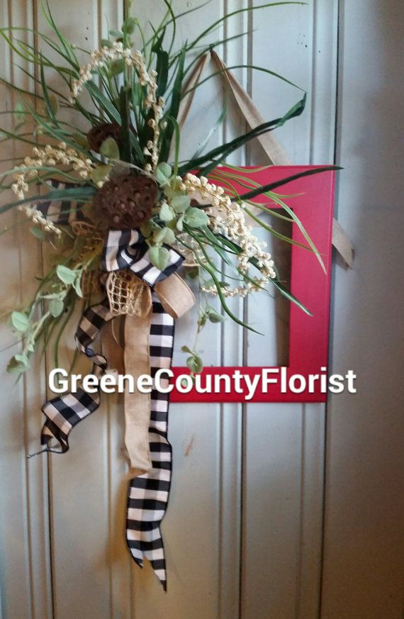 Custom Red Picture Wreath